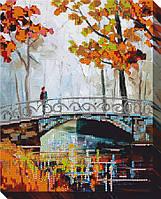 """Схема для вышивки бисером """"Осенний мост"""""""