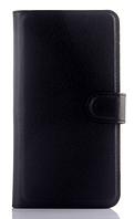 Кожаный чехол-книжка для Meizu M2 / M2 mini черный