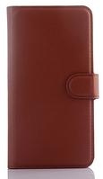 Кожаный чехол-книжка для Meizu M2 / M2 mini коричневый