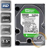 """Жесткий диск 3.5"""" 500Gb WD WD5000AADS (32Mb/5400/SATAII) БУ"""