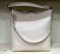 Стильная женская белая сумка шоппер из экокожи,