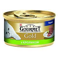 Консервы Gourmet Gold для кошек, паштет с кроликом, 85 г