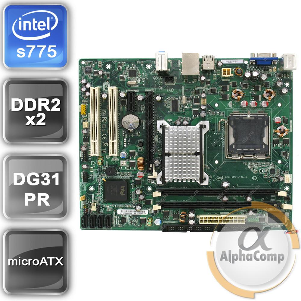 Материнская плата Intel DG31PR (s775/G31/2xDDR2) БУ