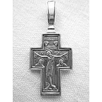 Крест нательный из серебра (кр-09)