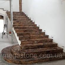 Лестница из натурального камня Emperador Gold (Ступень) 20 мм