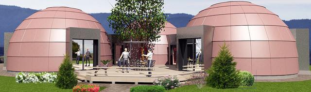 Стратодезический модульный купольный дом