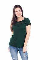 Стильная изумрудная футболка / Стильна ізумрудна футболка