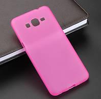 Силиконовый чехол накладка для Samsung I8160 Pink