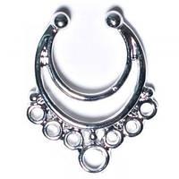 Серьга-обманка в нос Полумесяц Серебро