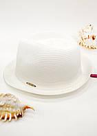 Летняя женская шляпа Del Mare белая