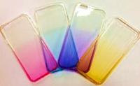Тонированный силиконовый чехол с отливом для телефонов iphone