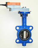 Задвижка поворотная Баттерфляй диск чугун VITECH с эл.приводом SMD BELIMO Ду50 Ру16 20сек, фото 2