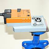 Задвижка поворотная Баттерфляй диск чугун VITECH с эл.приводом SMD BELIMO Ду50 Ру16 20сек, фото 4