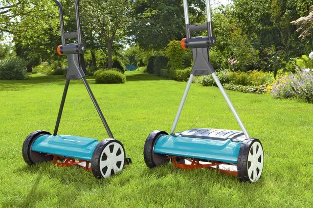 Ручные механические шпиндельные газонокосилки Gardena
