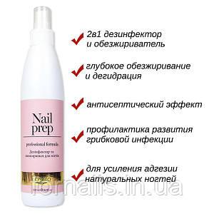 Komilfo Nail Prep - дезинфектор и обезжириватель для ногтей, 250 мл