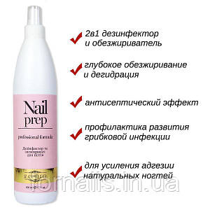 Komilfo Nail Prep - дезинфектор и обезжириватель для ногтей, 500 мл