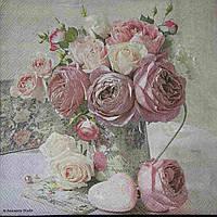 Красивая салфетка с цветами, Германия,  33х33 см., 10 гр.
