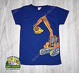"""Стильная летняя футболка для мальчика """"Экскаватор"""", фото 2"""