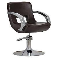 Парикмахерское кресло Roma коричневое