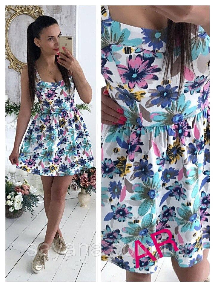 Женское летнее платье с цветочным принтом, 2 цвета. АР-17-0517