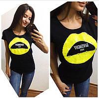 Женская красивая футболка с гипюровой спинкой , фото 1