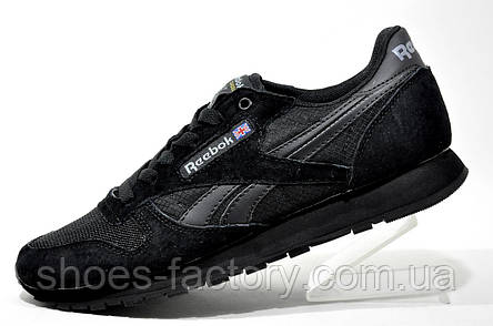 Мужские кроссовки в стиле Reebok Classiс Leather Suede, Black, фото 2
