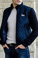 """Демисезонная куртка """"Замш -2"""" - 242 синий, фото 1"""