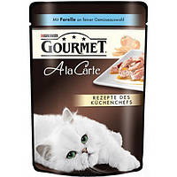 Консервы Gourmet A La Carte для кошек, кусочки в подливке с форелью, 85 г