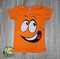 """Стильная летняя футболка """"Смайл"""" для мальчиков 1-2 и 3-4 года"""