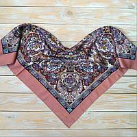 Оригинальный платок с орнаментом (80х80см, 80%-шерсть)