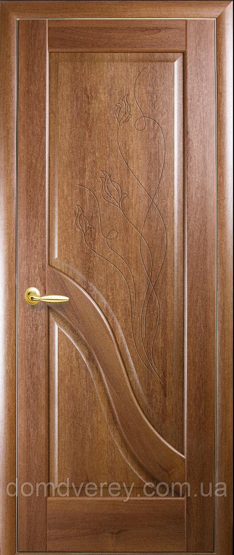 Двери межкомнатные Новый Стиль, Маэстра, модель Амата, глухое с гравировкой