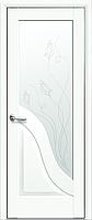 Двері міжкімнатні Новий Стиль, Маестра, модель Амата, Скло сатин з малюнком P2 Білий матовий