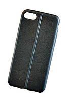 """Cиликоновый чехол-накладка текстура Кожаный шов для для Iphone 7 (4.7"""")"""