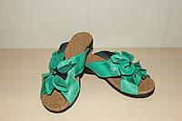 Шлепки кожаные женские 36-41 р зеленые AVANA