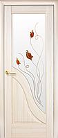 Двері міжкімнатні Новий Стиль, Маестра, модель Амата, зі склом сатин з малюнком P1