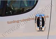 Накладки на дверные ручки и ободки из АБС пластикаOmsa на Citroen Jumper 2007-2013