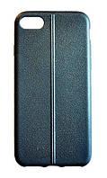 Cиликоновый чехол-накладка текстура Кожаный шов для для Iphone 5/5S