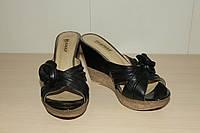 Шлепки кожаные женские тм Vlamax черные
