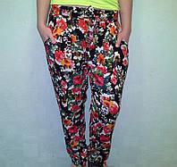 Женские брюки шаровары разноцветные, в цветочек - Одесса