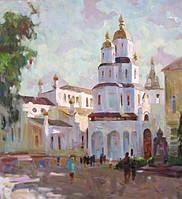 """Картина на холсте """"Покровский монастырь"""""""