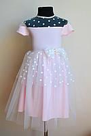 Детское платье для девочки, пышное с фатином, нарядное