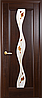 Двери межкомнатные Новый Стиль, Маэстра, модель Волна, со стеклом сатин и рисунком P1