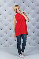 Блуза женская летняя красная, фото 1