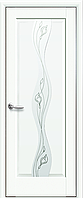 Двери межкомнатные Новый Стиль, Маэстра, модель Волна, со стеклом сатин и рисунком P2