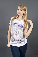 Нежная молочная футболка / Ніжна молочна футболка