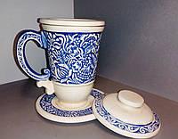 Глиняна чаша - заварник 0,33л