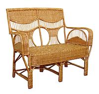 Плетенный диван из лозы Юбилейный ЧФЛИ 1200х640х1020 мм