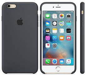 Силиконовый чехол Apple Silicone Case (MKXJ2FE/A) для Iphone 6 Plus | 6S Plus (Gray | Тёмно-Серый) Original