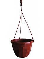 Подвесной горшок 14 с крюком (коричневый) Польша.