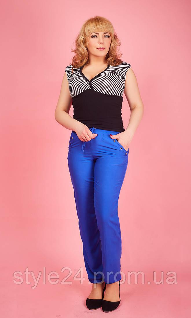 Жіночі літні штапельні штани.Р-ри 42-56 - Стильний одяг «Роксана 9b8d718815c4f